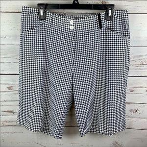 Nike Golf | Black White Herringbone Shorts